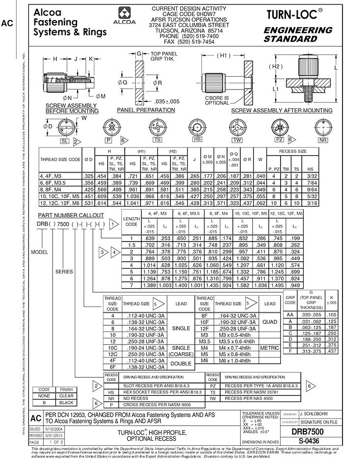 Part DRB7500